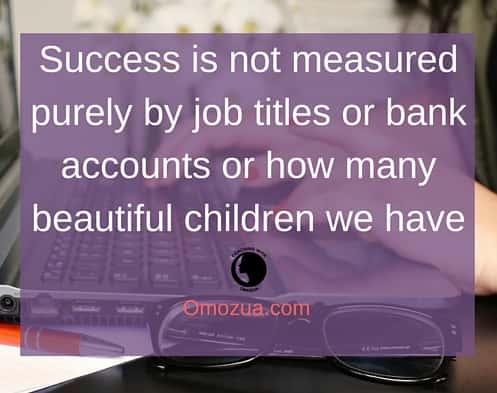 success is not measured purely by job titles